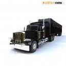 Peterbilt 389 with trailer