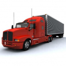 Kenworth T600 semi trailer