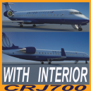 CRJ700 UNITED EXPRESS with interior.